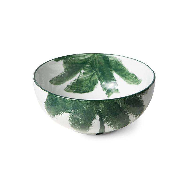 HKliving-collectie Bold & basic keramieks schaal palms groen porselein
