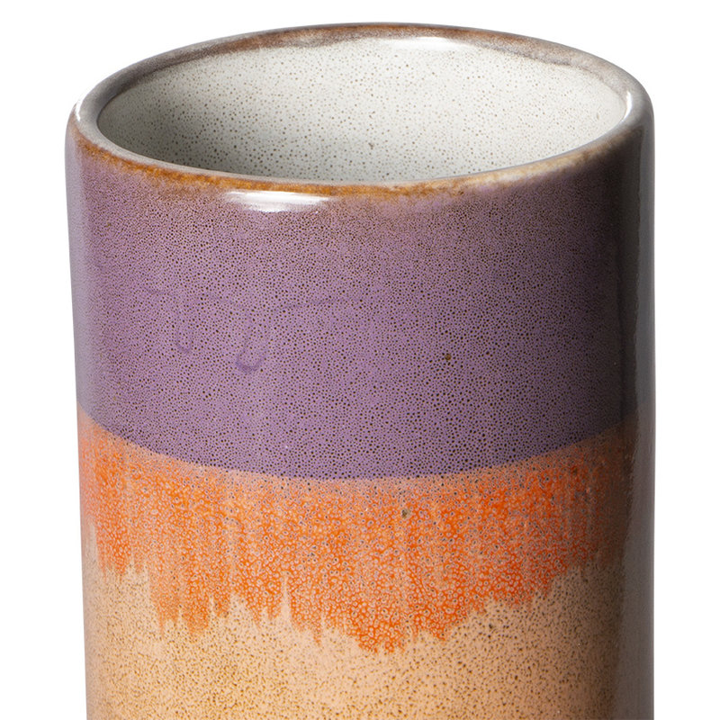 HKliving-collectie 70s ceramics vaas XS sunset