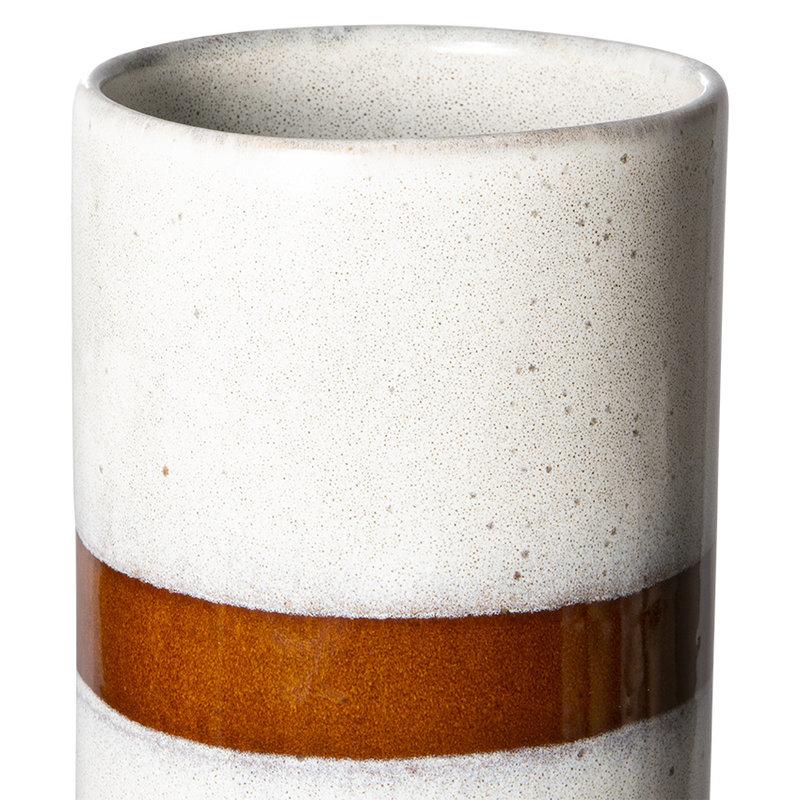 HKliving-collectie 70s ceramics: vase L, snow