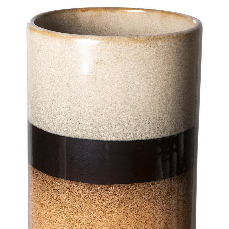 HKliving-collectie 70s ceramics vaas XL tornado