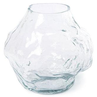 HKliving Cloud vaas helder glas laag