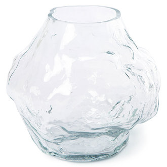 HKliving HK objects: cloud vase clear glass low