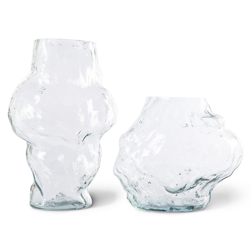 HKliving-collectie HK objects: cloud vase clear glass low