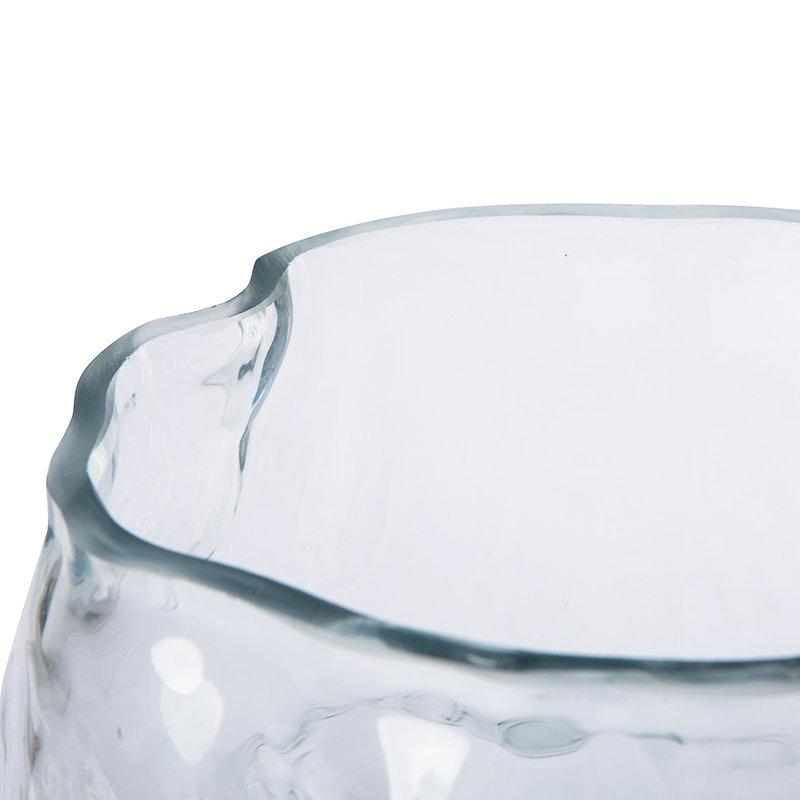 HKliving-collectie Cloud vaas helder glas hoog
