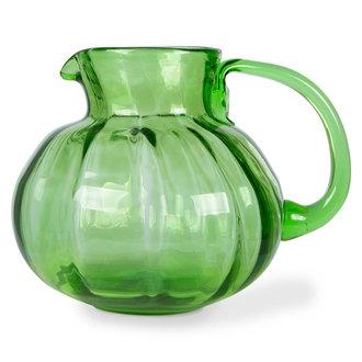 HKliving The emeralds Glazen karaf  groen