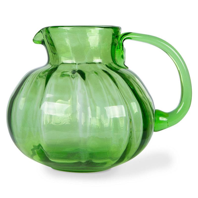 HKliving-collectie The emeralds Glazen karaf  groen