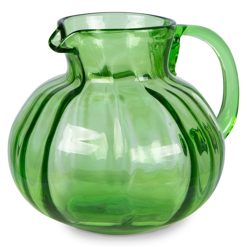 HKliving-collectie the emeralds: glass jug, green