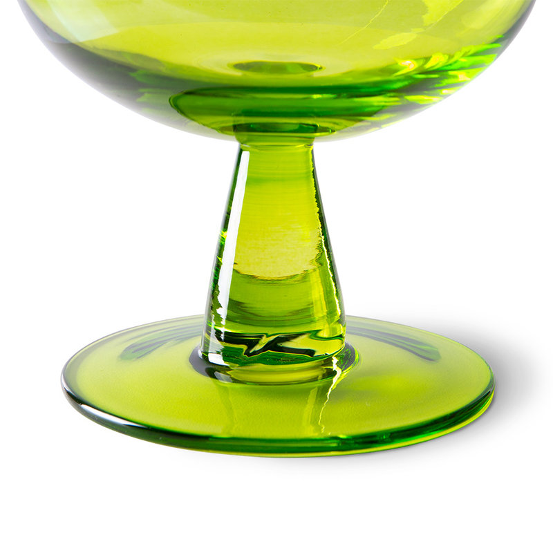 HKliving-collectie the emeralds: wine glass low, lime green (set of 4)