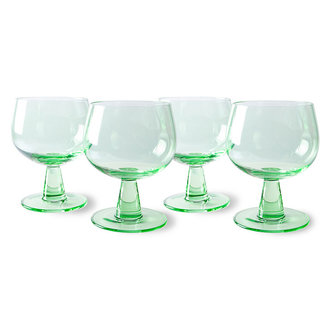 HKliving the emeralds: wine glass low, fern green (set of 4)