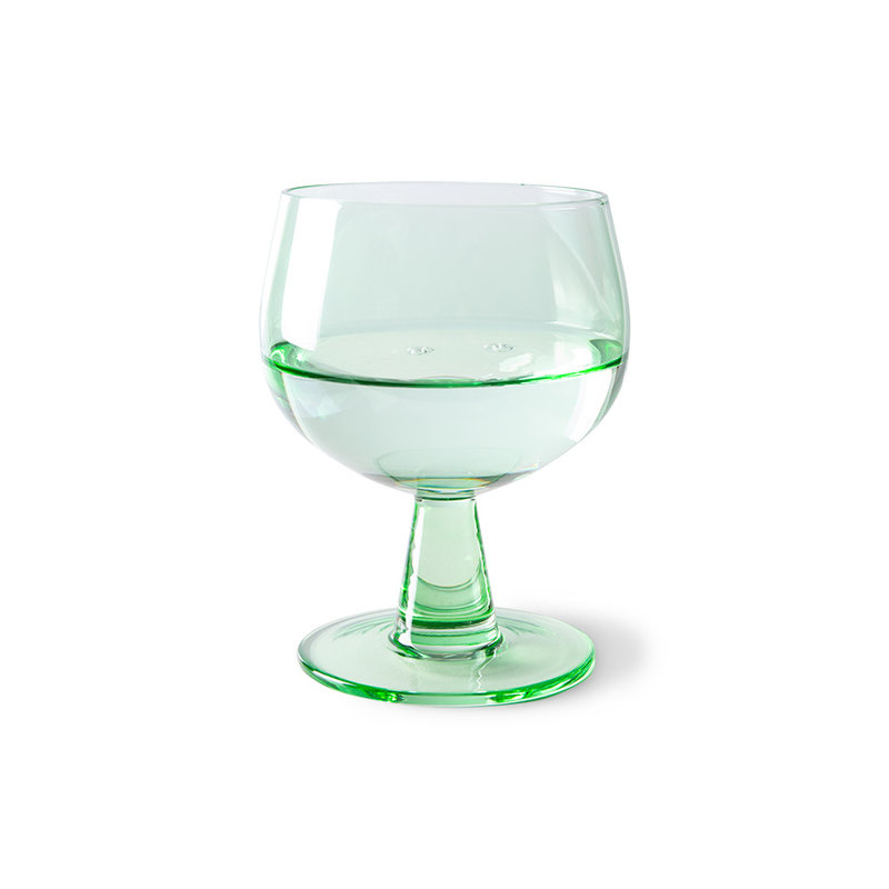HKliving-collectie the emeralds: wine glass low, fern green (set of 4)