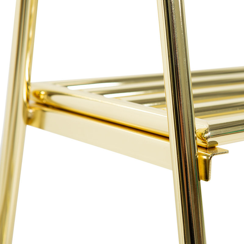 HKliving-collectie clothing rack with hanger/hook set, brass