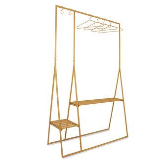 HKliving clothing rack with hanger/hook set, ginger orange