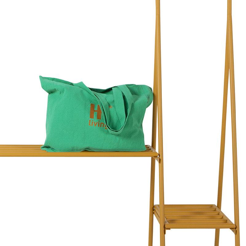 HKliving-collectie Kledingrek met hangers en haken ginger orange