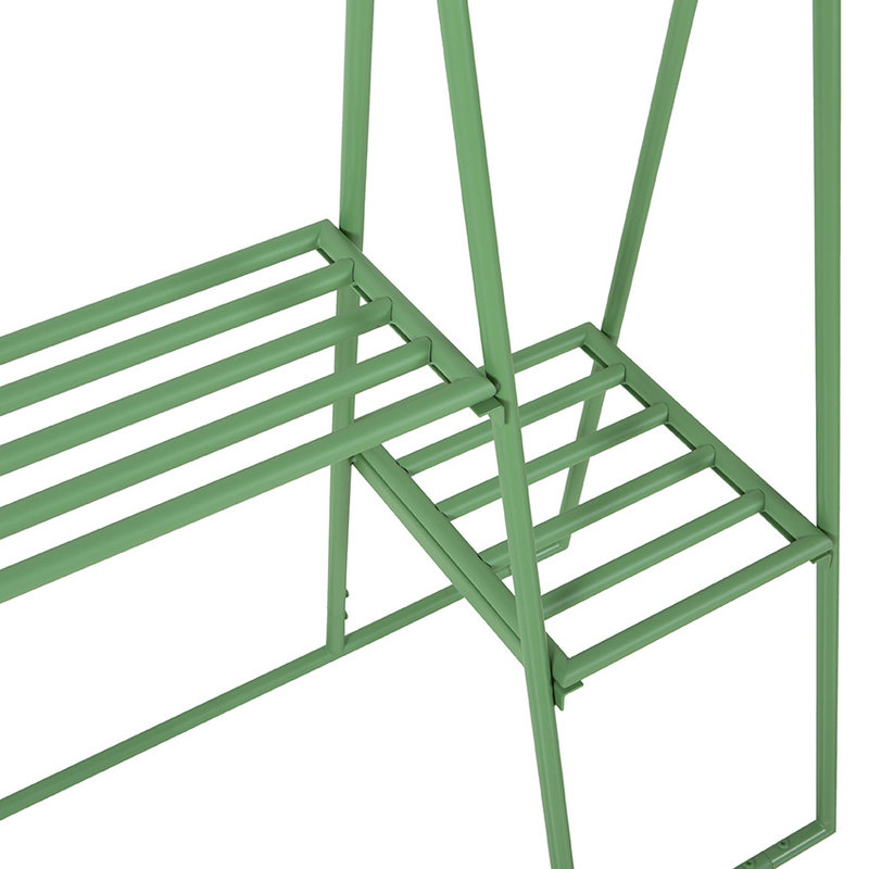 HKliving-collectie clothing rack with hanger/hook set, fern green