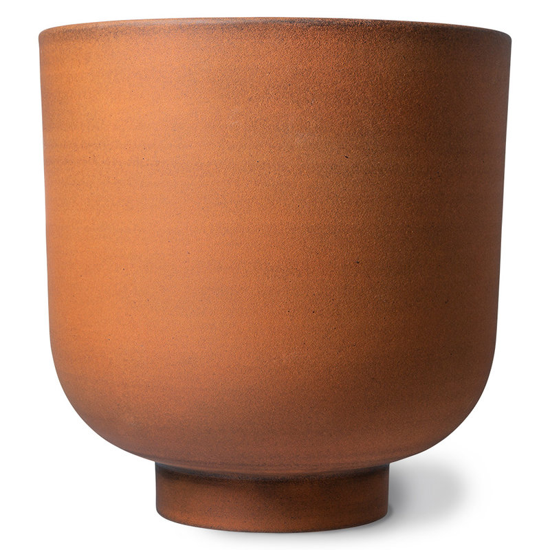 HKliving-collectie Metalen plantenpot ginger (set van 3)