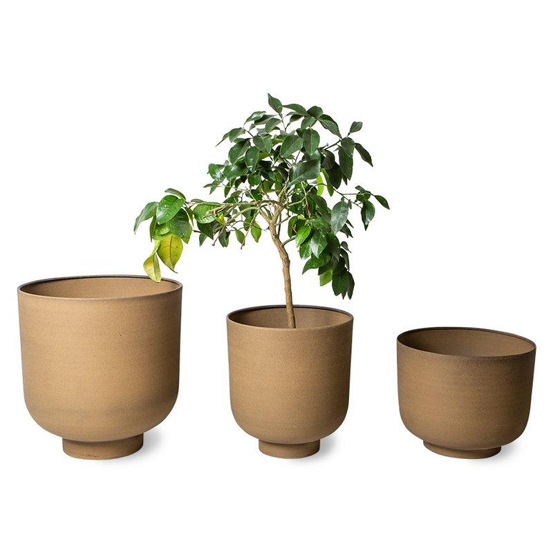HKliving-collectie Metalen plantenpot camel (set van 3)