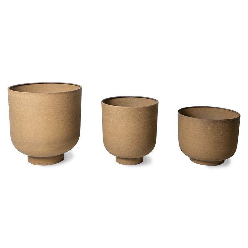 HKliving-collectie metal planter camel (set of 3)