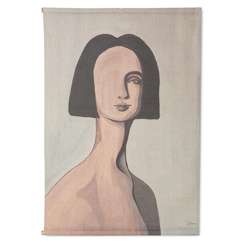 HKliving-collectie wall chart woman portrait by Sella Molenaar