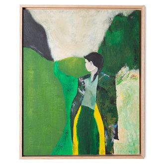 HKliving Schilderij fresh nature met lijst 40x50cm