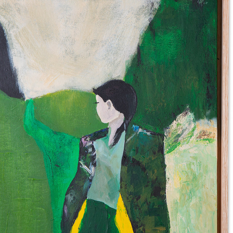 HKliving-collectie Schilderij fresh nature met lijst 40x50cm