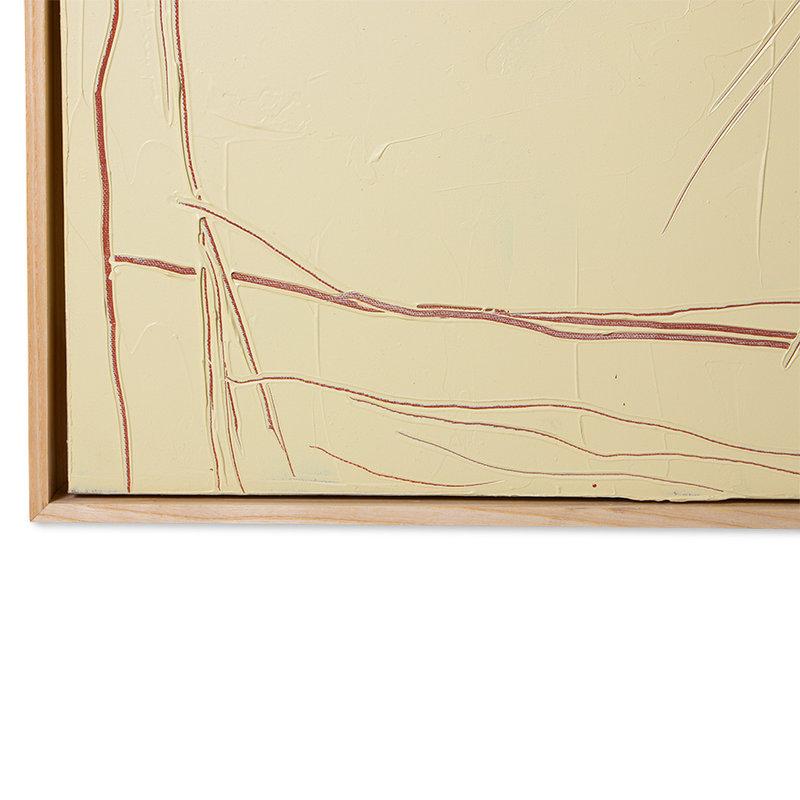 HKliving-collectie Abstract schilderij visage 120x160cm