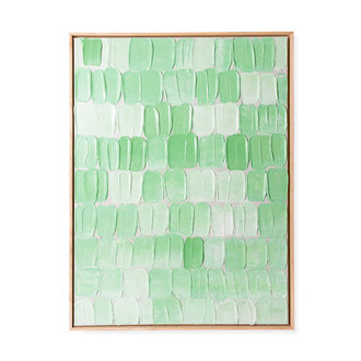 HKliving framed painting green palette abstract 75x100cm