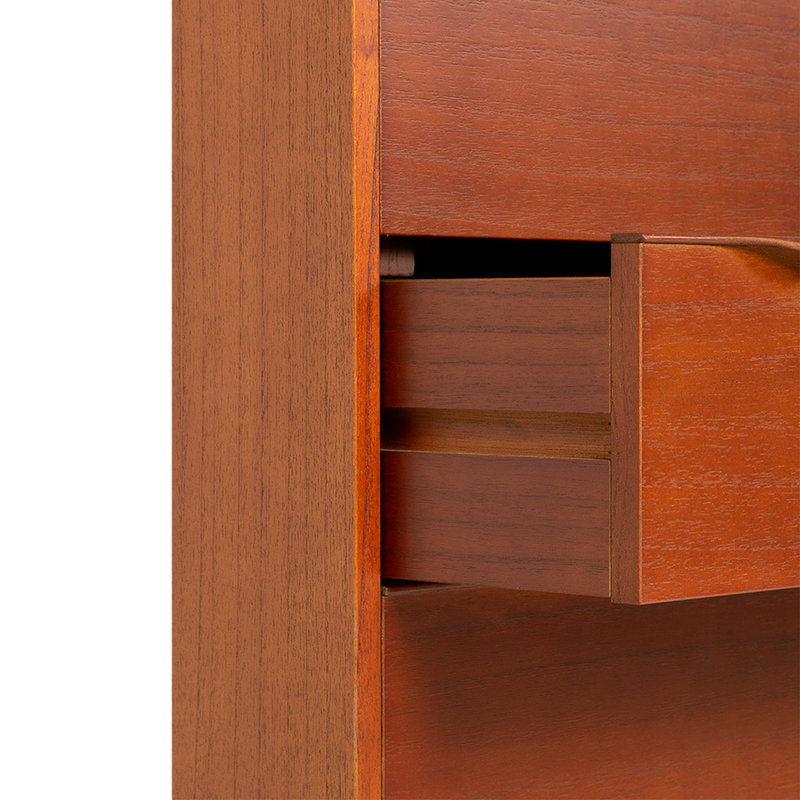 HKliving-collectie Houten secretaire kast stained