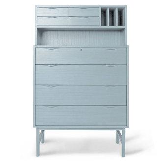 HKliving wooden secretairy grey/blue