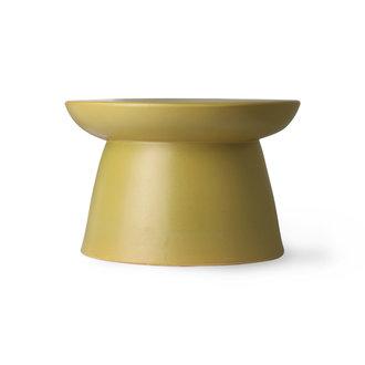 HKliving earthenware side table green