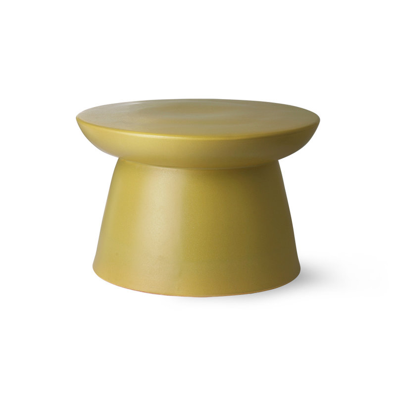 HKliving-collectie earthenware side table green