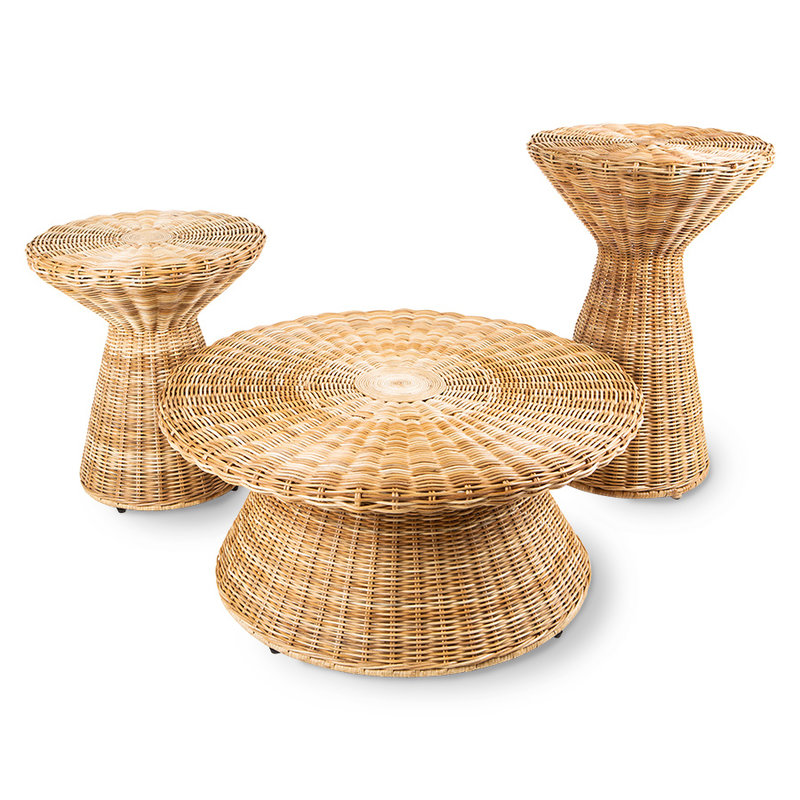 HKliving-collectie rattan side table