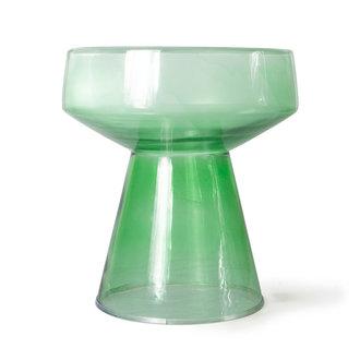 HKliving Glazen side table groen