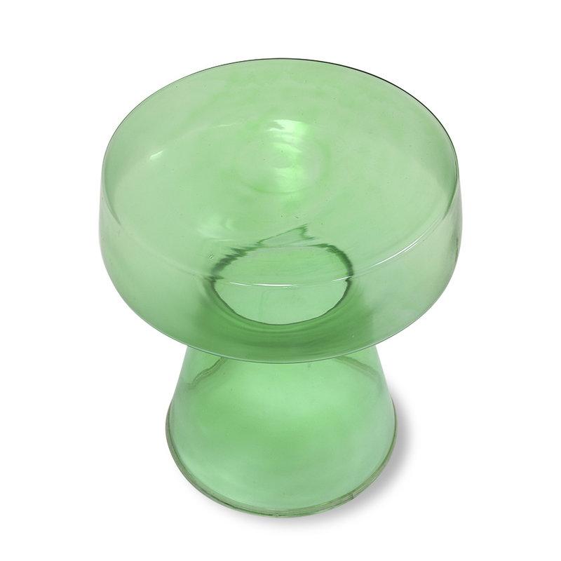 HKliving-collectie Glazen side table groen