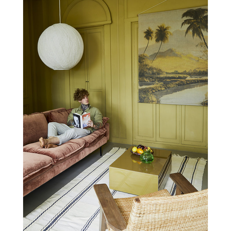 HKliving-collectie mirror block coffee table olive