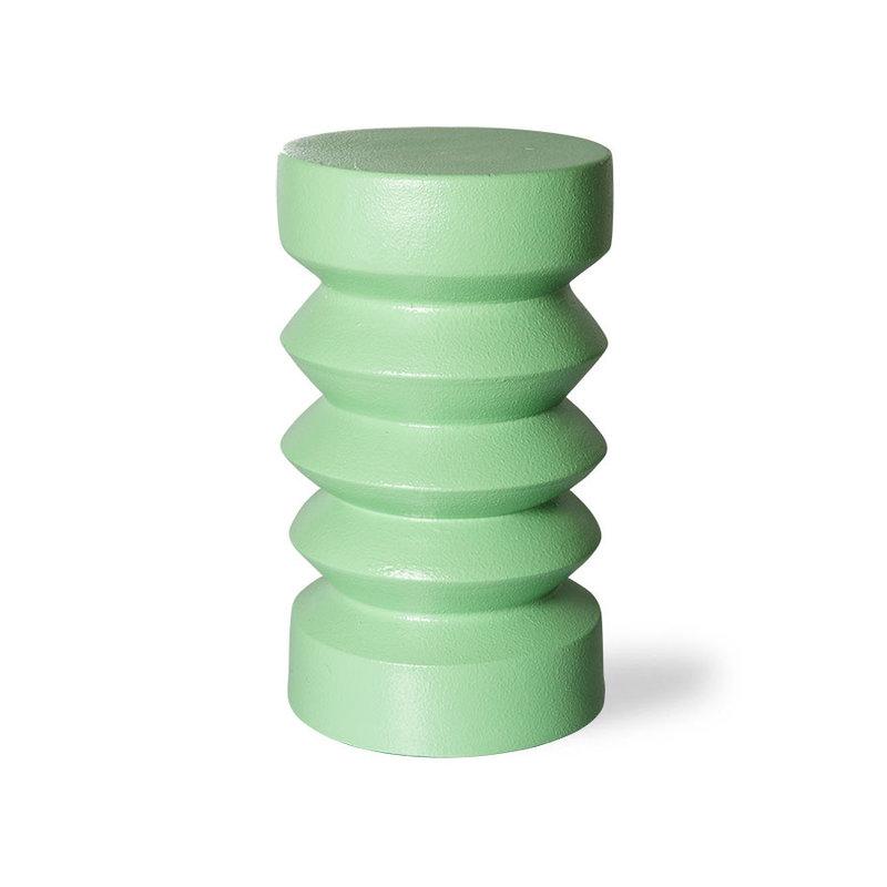 HKliving-collectie Aardewerk bijzettafel  groen