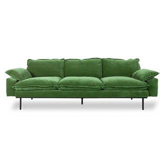 HKliving retro sofa: 4-seats, royal velvet, green