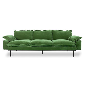 HKliving Retrosofa 4-zits royal velvet groen