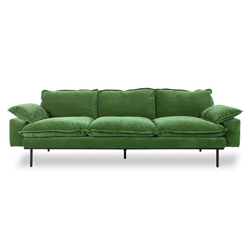 HKliving-collectie Retrosofa 4-zits royal velvet groen