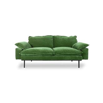 HKliving Retrosofa 2-zits royal velvet groen