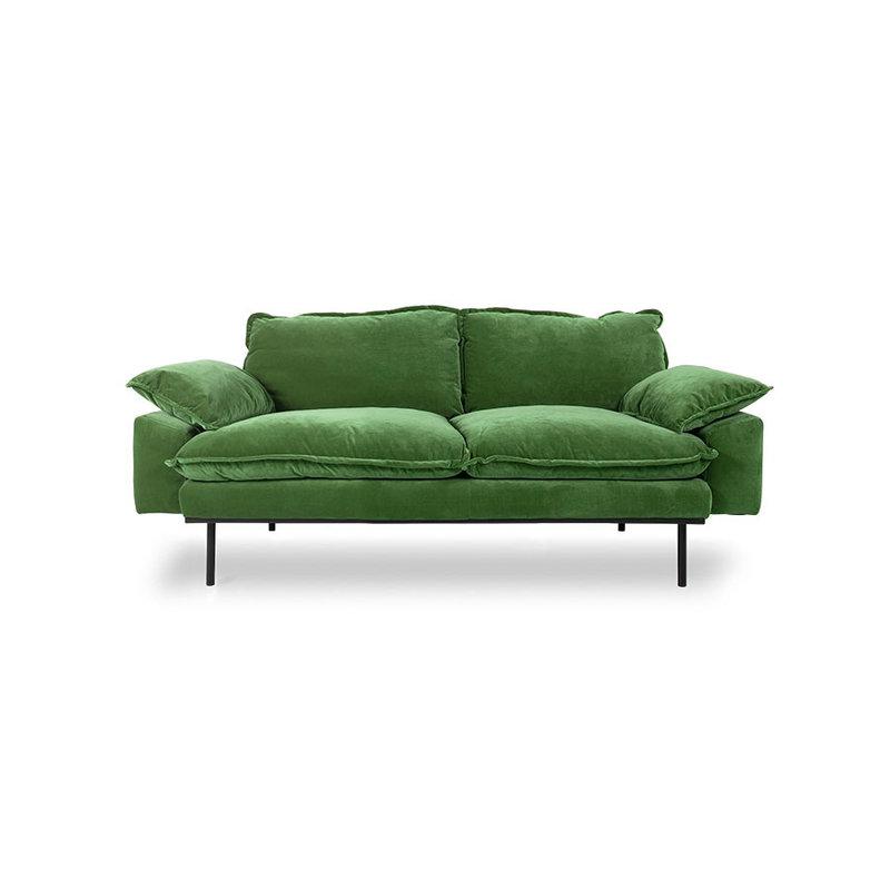 HKliving-collectie retro sofa: 2-seats, royal velvet, green