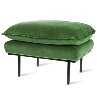 HKliving retro sofa: hocker, royal velvet, green