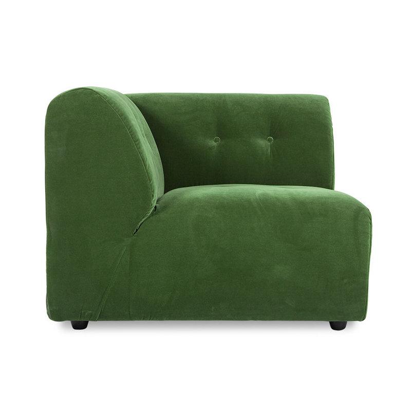 HKliving-collectie vint couch: element left, royal velvet, green