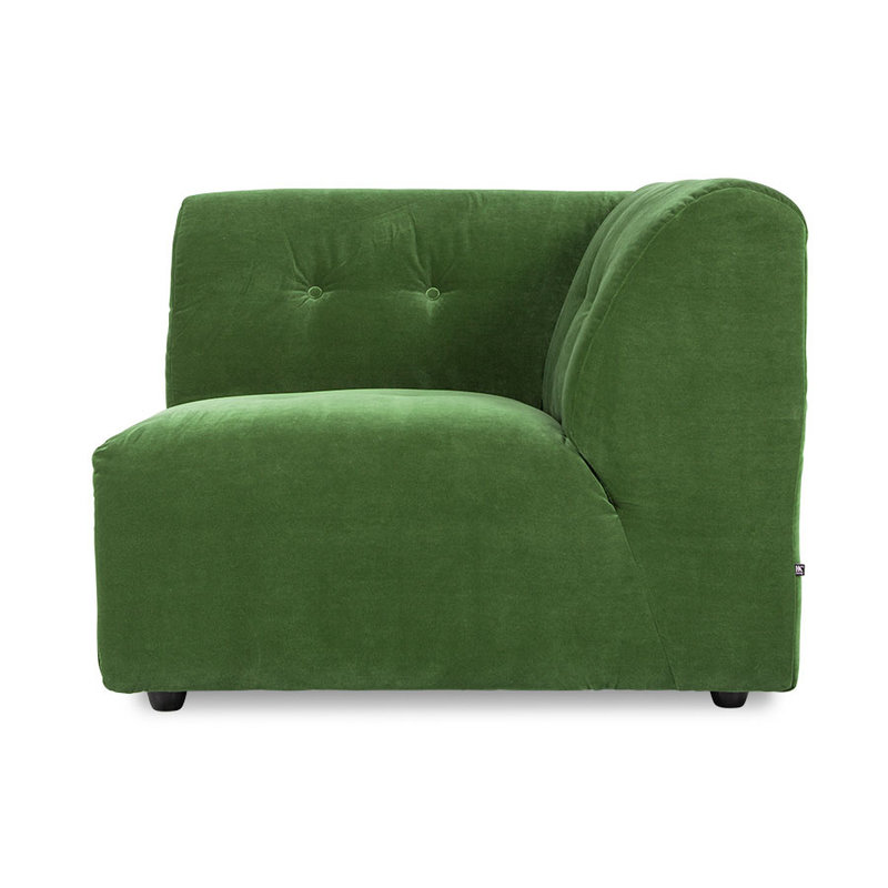 HKliving-collectie vint couch: element right, royal velvet, green