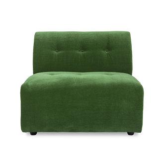 HKliving vint couch: element middle, royal velvet, green