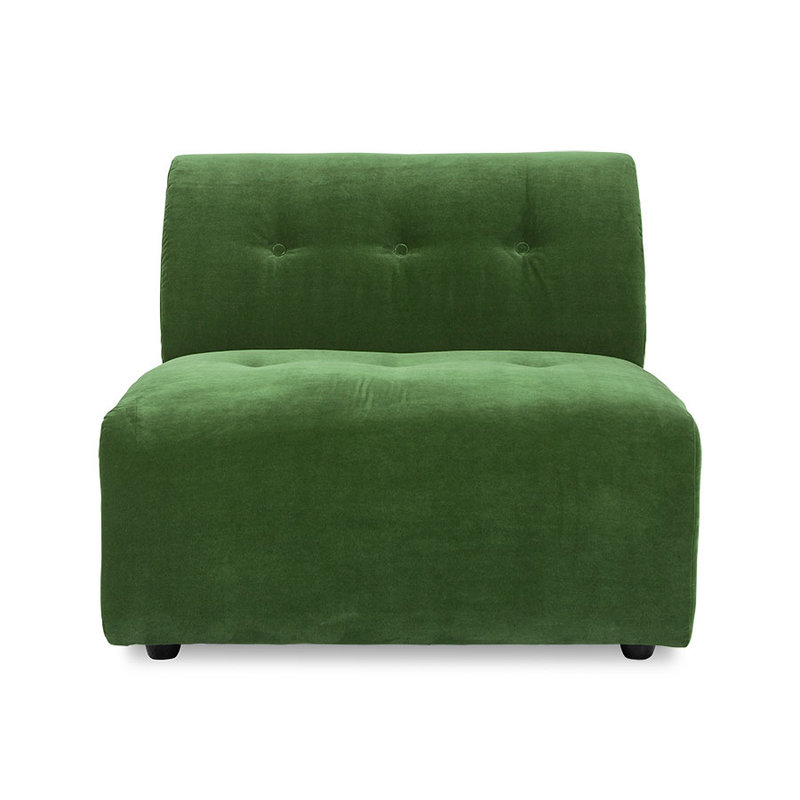 HKliving-collectie Vint bank element midden royal velvet groen
