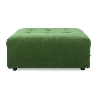 HKliving vint couch: element hocker, royal velvet, green