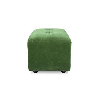 HKliving Vint bank element hocker klein royal velvet groen