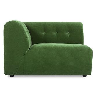 HKliving vint couch: element left 1,5-seat, royal velvet, green