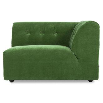 HKliving vint couch: element right 1,5-seat, royal velvet, green
