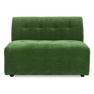 HKliving vint couch: element middle 1,5-seat, royal velvet, green
